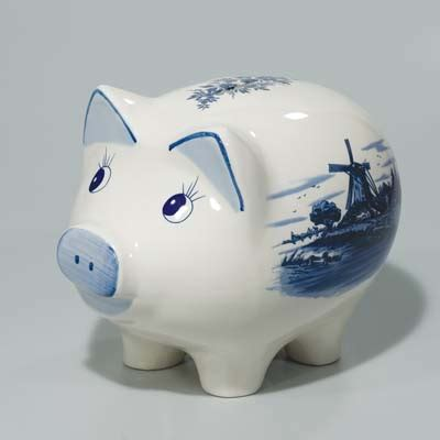 6073 porcelain piggy bank large ceramic blue and white delft piggy bank korner