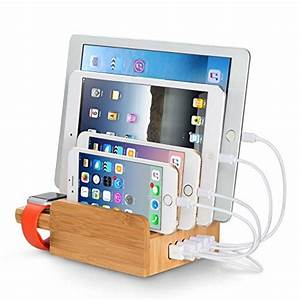 Ipad Iphone Ladestation : chargeurs bureau bambou ~ Sanjose-hotels-ca.com Haus und Dekorationen