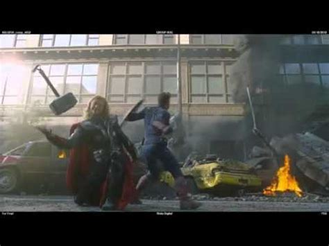 avengers blooper thor dropping his hammer youtube