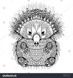 Tribal Adult Coloring Pages Animals