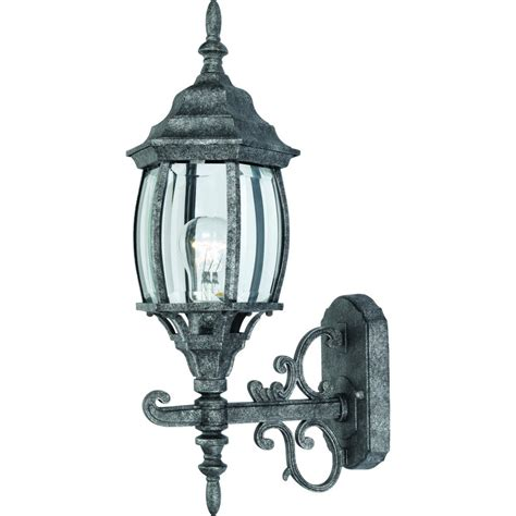 outdoor patio porch exterior light fixture antique silver