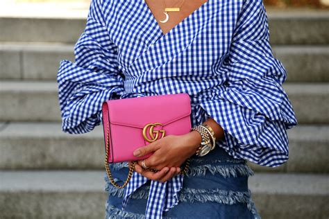 outfit   pink gucci martmont bag fashionhippieloves