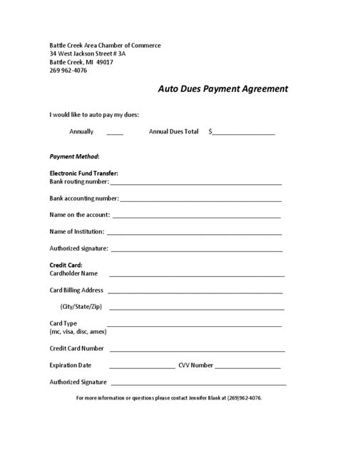 car payment agreement form   templates   word