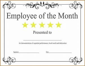 employee of the month certificate template with picture - printable certificate template