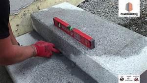 Blockstufen Beton Setzen : blockstufen granitblockstufen gebunden versetzt youtube ~ Orissabook.com Haus und Dekorationen