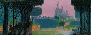 Giraffe Wallpaper For Nursery by Sleeping Beauty Concept Art Painting By Eyvind Earle