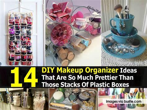 diy makeup organizer ideas     prettier