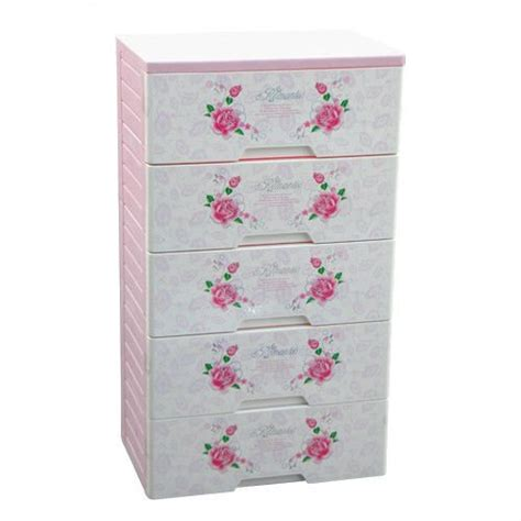 5 layer pink cheap plastic drawer for baby clothes 5
