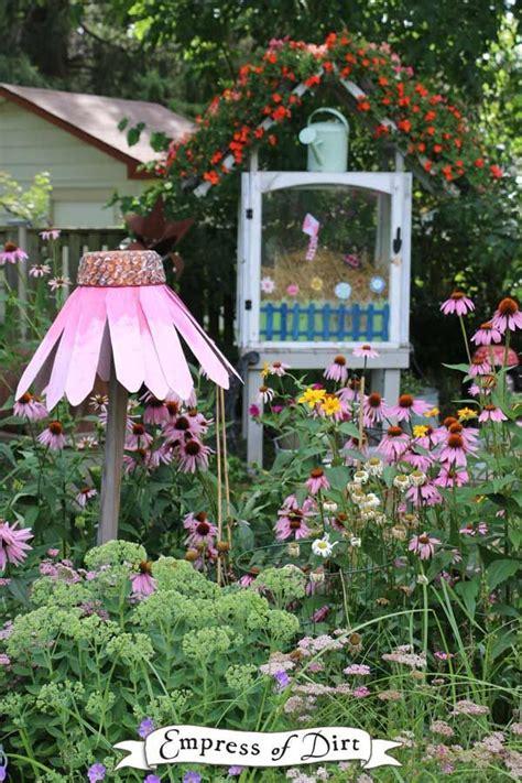 diy giant garden art coneflowers garden art garden art