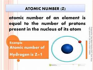Atomic number, Mass number, Relative atomic mass and ...
