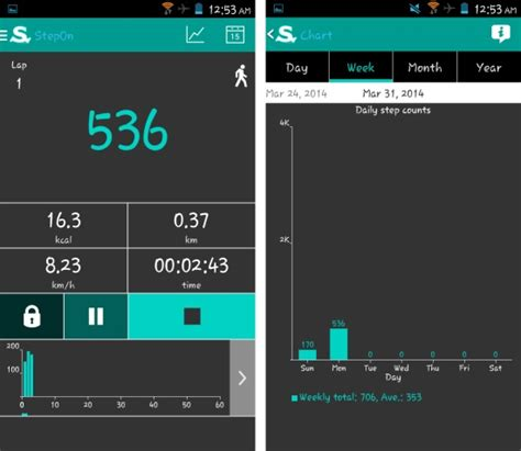 pedometer app for android free pedometer app for android stepon step tracker pedometer
