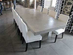 Tables on pinterest for Table salle a manger beton cire