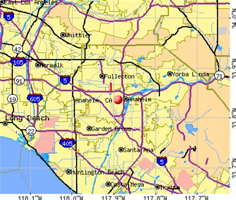 printable map  local map  anaheim california