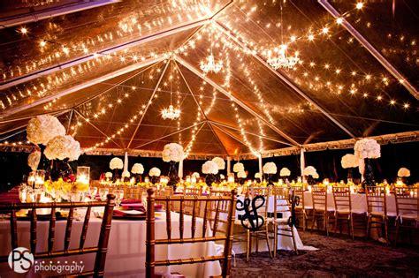 Deering Estate wedding lighting