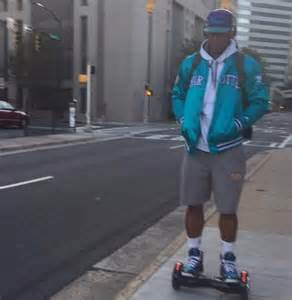Cam Newton in Charlotte On Hoverboard
