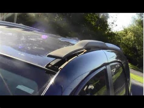 remove install roof rack utility bars   chevy
