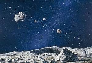Artwork Of Asteroids From An Asteroid's Surface Photograph ...