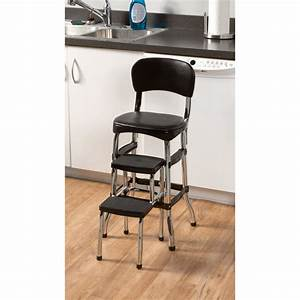 Retro, Step, Stool, With, Chair