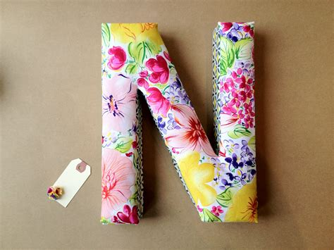 Letter N Home Decor : Fabric Letter Decor N For Ng