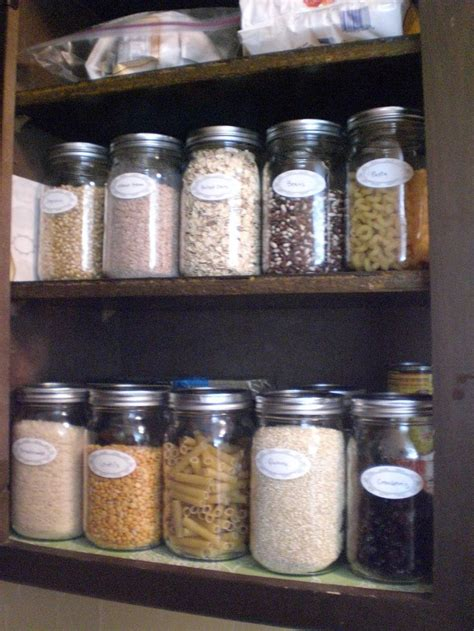 glass kitchen storage organizing a pantry with glass jars is cheap and easy 1236