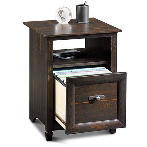 Sauder File Cabinet Black by Sauder New Cottage 3 In 1 File Cabinet And Utility Stand
