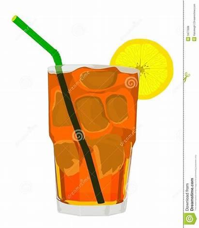 Tea Iced Clipart Vector Cartoon Lemon Clip