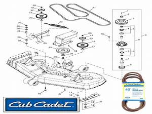 Cub Cadet Mower Deck Parts Diagram Cub Cadet Mower Deck