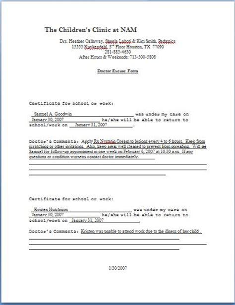 doctors note template microsoft word patient progress notes form printable forms letters sheets