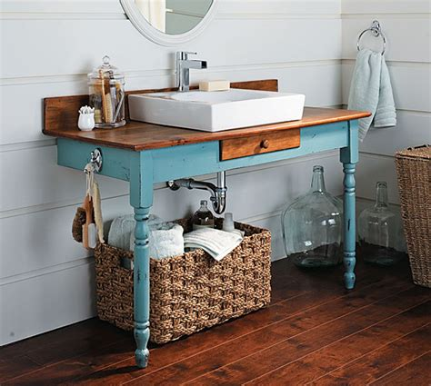 diy vanity table plans how to build a bathroom vanity from an old dining table