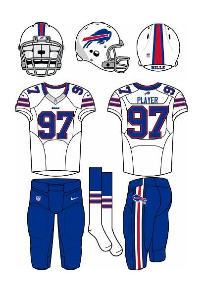 Bills Buffalo Uniform Logos Road Helmet Football