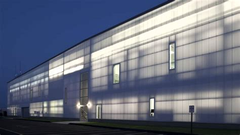 extech translucent wall panel system project spotlight volo aviation hangar