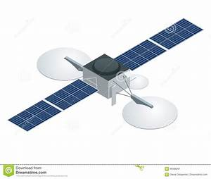 Gps Satellite  Flat Vector Isometric Illustration