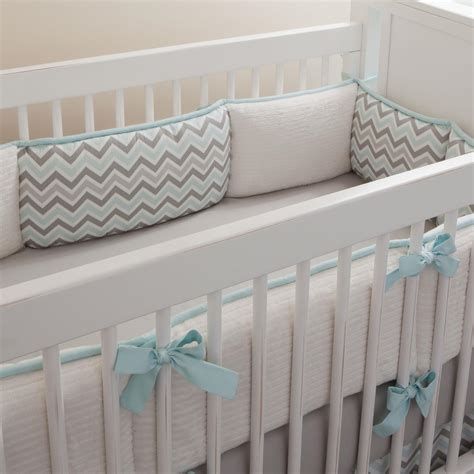 chevron crib bedding mist and gray chevron crib bedding neutral baby bedding