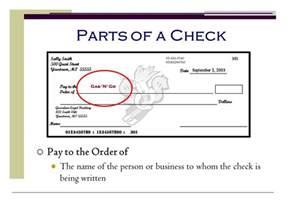 Personal Check Parts
