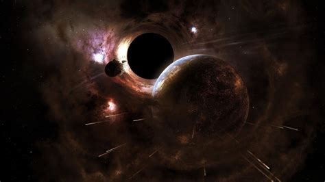 abstract black hole outer space wallpaper