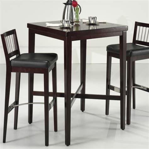 cherry wood pub table set pub table in cherry modern bar tables by wayfair