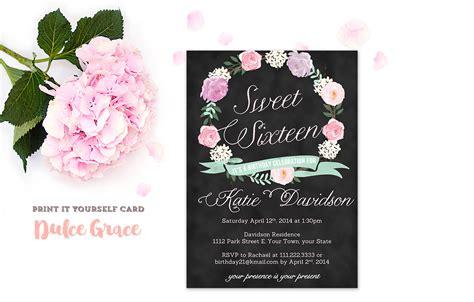 sweet sixteen invitations sweet  invitation printable
