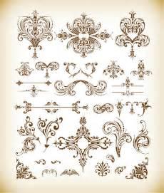 designer vintage vector set of vintage floral elements free vector graphics all free web resources for