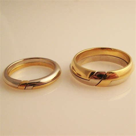 Gemini Twins Two Gimmal Rings In 18k Yellow By. Rose Gold Mens Wedding Band. Peach Pearls. Gold Lockets. Mens Anklet