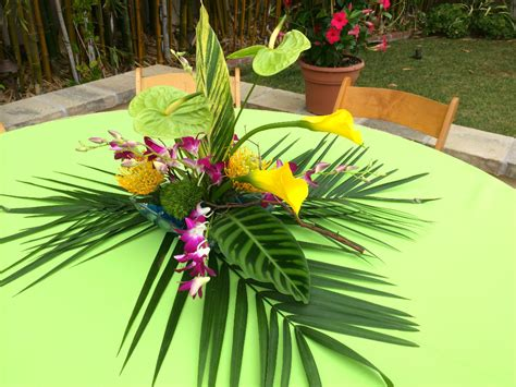 Tropical Theme : Thistle Dew Floral & Event Design » Tropical-themed Party