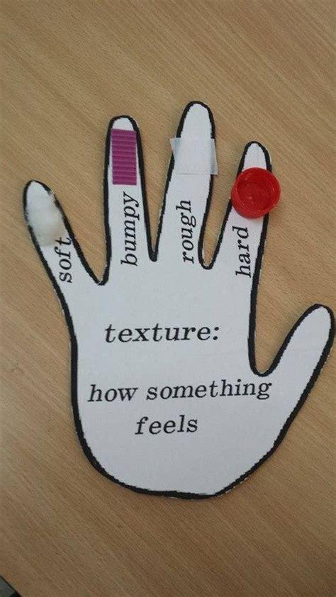 senses crafts feely hand kindergarten kids crafts