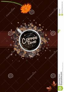 Brochure Download Template A Coffee Menu Template On Brown Background Stock Image