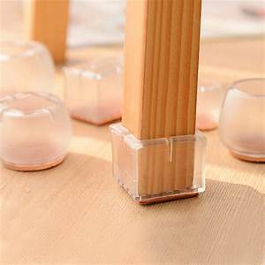 4pcs plastic square bottom for 30 35mm chair leg foot With plastic furniture leg covers