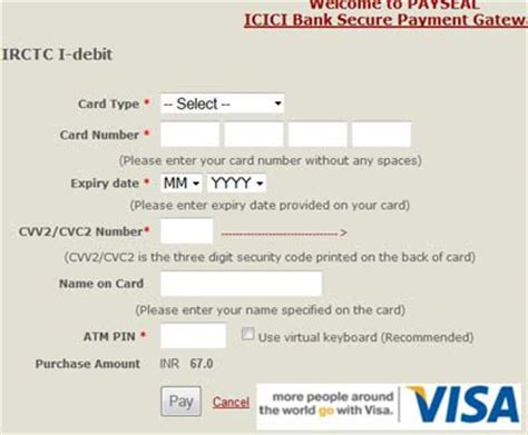 Icici bank is among the top credit card issuers in india and offers a range of cards suiting varying individual needs. How to Pay by Debit Cards at IRCTC for Booking Tickets | Book Rail Ticket India