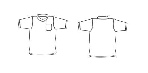 Pocket T Shirt Template Vector