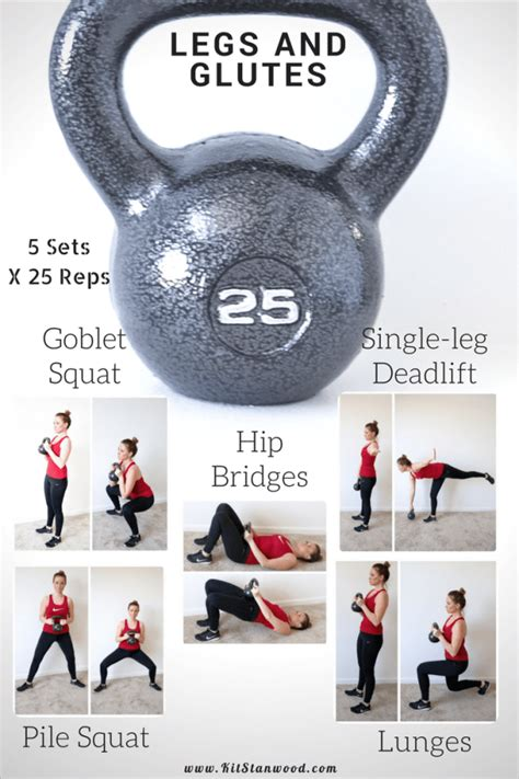 kettlebell workout leg circuit glutes legs workouts routine 25lb routines exercises glute training powerful fitness kettlebells bell crossfit muscles weight