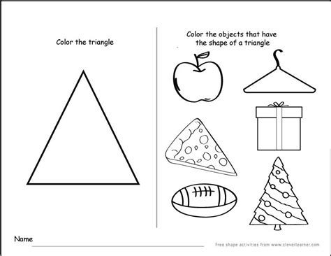 triangle academy preschool shapes recognition practice wor 564 | db5396c195a4fc3d3b838b70806e6b48