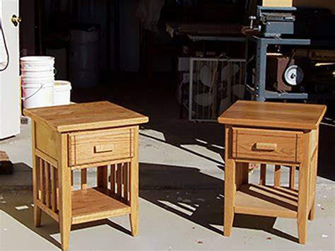 Matching Nightstands by Matching Oak Nightstands Woodworking