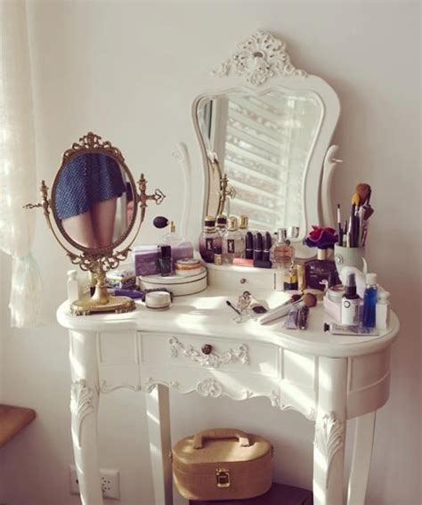 White Vanity Makeup Station by 23 Gorgeous Dressing Tables Style Motivation