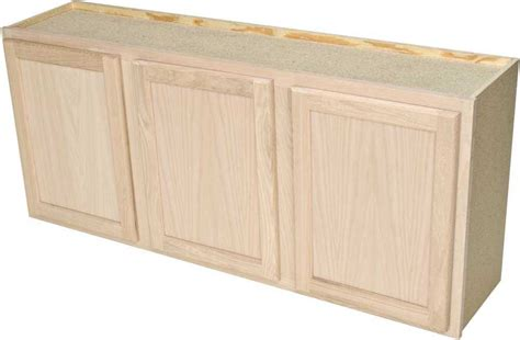 unfinished kitchen wall cabinets quality one woodwork lc5424 54x24 unfinished oak laundry 6631